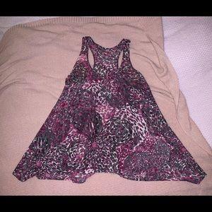 Tops - Patterned Flowy Tank Top